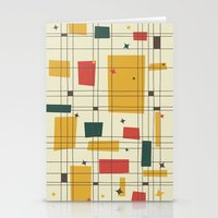 mid century Stationery Cards featuring Mid-Century Modern by Studio Fibonacci