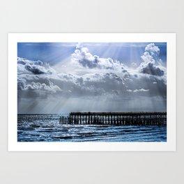 Ocean Pier Sky Art Print