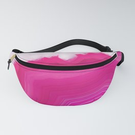 Pink Agate Slice Fanny Pack
