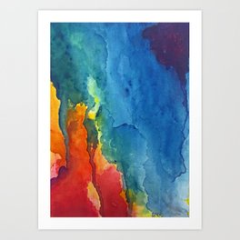 """""""carousel"""" abstract watercolor painting Art Print"""