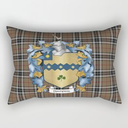 Thompson Crest and Tartan Rectangular Pillow