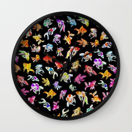Electric Neon Black Aquarium Wall Clock