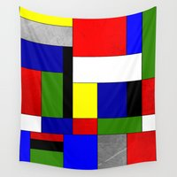 mondrian Wall Tapestries featuring Mondrian #4 by Ron Trickett