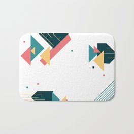 Cheerful abstract shapes Bath Mat