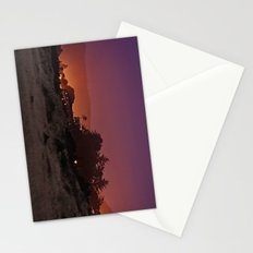 Gold Beach At Night Stationery Cards