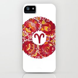 Aries in Petrykivka Style (without artist's signature/date) iPhone Case