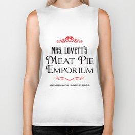 Mrs. Lovett's Meat Pie Emporium (Sweeney Todd) Biker Tank