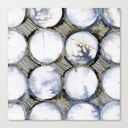 WATERCOLOUR DISCS: White Howlite (detail ) Canvas Print