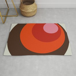 Gleti - Classic Colorful Abstract Minimal Retro 70s Style Dots Design Rug