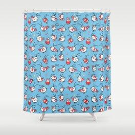 Shy shrimp - pattern Shower Curtain