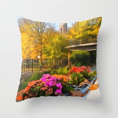 Autumn In Little Venice London Throw Pillow