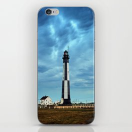 New Cape Henry Lighthouse Under Ominous Clouds iPhone Skin