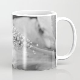 Hybiscus in Black and White Coffee Mug
