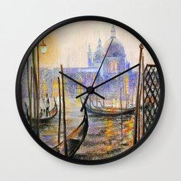 Lilac evening Wall Clock