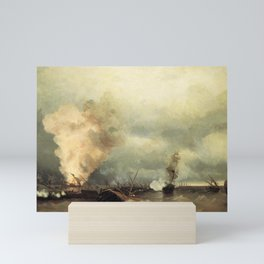 Sea battle near Vyborg by Ivan Aivazovsky Mini Art Print