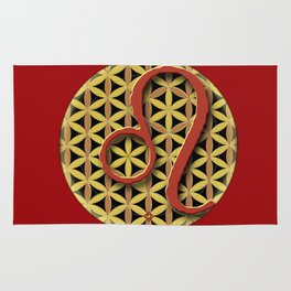 Flower of Life LEO Astrology Design Rug