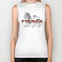 fierce Biker Tanks featuring FIERCE by 2LD4