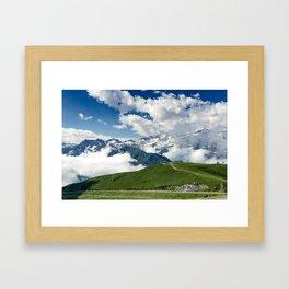 Blue vs Green Framed Art Print