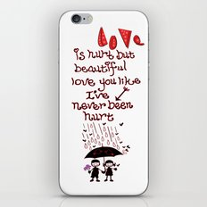 Love Rain iPhone & iPod Skin
