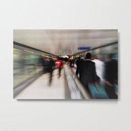 Passengers motion blur Metal Print