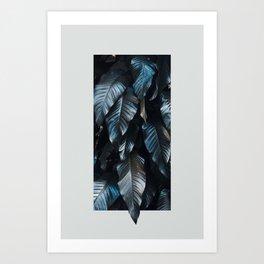 Growth II (blue) Art Print