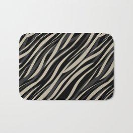 Tiger abstract striped pattern . Bath Mat