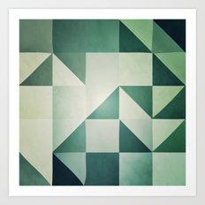 :: geometric maze x :: Art Print