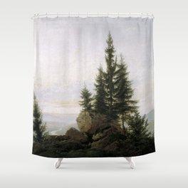 Caspar David Friedrich - View of the Elbe Valley Shower Curtain