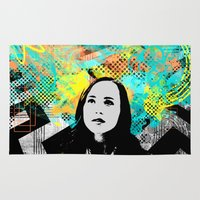 inception Area & Throw Rugs featuring Ellen Page Inception Print by mikailah.clark