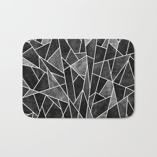 Shattered Black Bath Mat