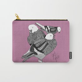 Three Pigeons Getting Fat Carry-All Pouch