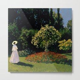 "Claude Monet ""Woman in garden (Femme au jardin)"" Metal Print"