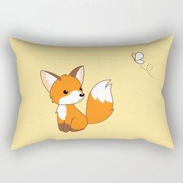 Cute Little Fox Watching Butterly Rectangular Pillow
