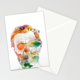 Abraham (Abe) Lincoln Skull Watercolor Stationery Cards