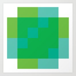 Ocean Pixel Views Art Print