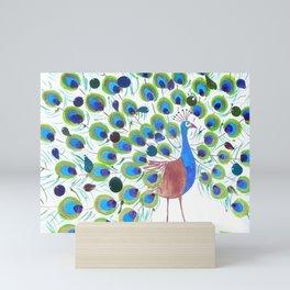Proud Peacock Mini Art Print