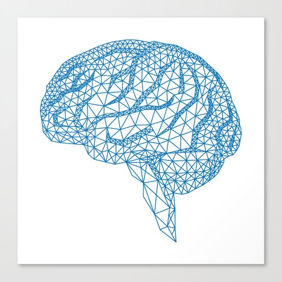 blue human brain Canvas Print