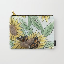 Monarch Sunflower Carry-All Pouch