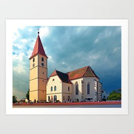 The village church of Kleinzell I | architectural photography Art Print