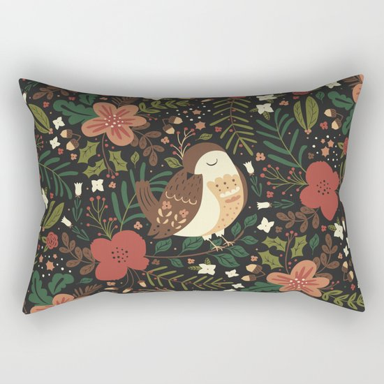 Christmas Robin Rectangular Pillow