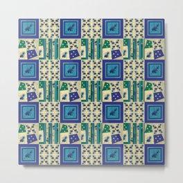 Thistle Print Quilt Coordinate Metal Print