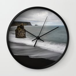 Sands Of Reynisfjara Wall Clock