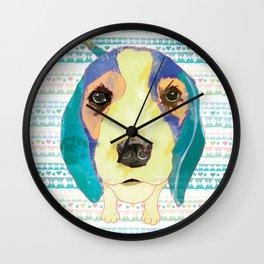 Beach Dog  • Camilo -Beagle Wall Clock