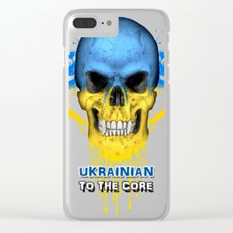 To The Core Collection: Ukraine Clear iPhone Case
