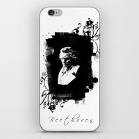 beethoven iPhone & iPod Skins featuring Beethoven by viva la revolucion