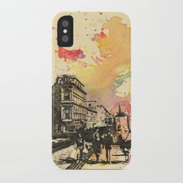 Walking in Rome iPhone Case
