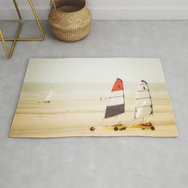 Sand yachting trio Rug