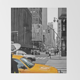 NYC Yellow Cabs Sex and the City - USA Throw Blanket