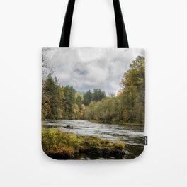 Fall on the McKenzie River Tote Bag