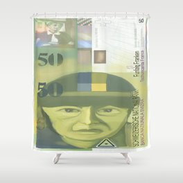 50 Swiss Francs  note bill - front side Shower Curtain